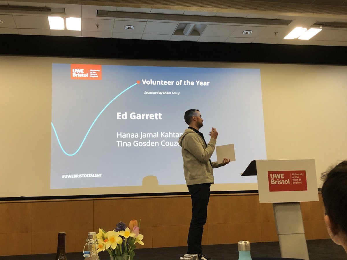 Congratulations to Ed Garrett, for excelling as Volunteer of the Year at UWE | 2020